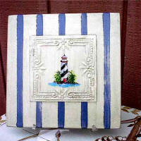Tin Tiles - Lighthouse